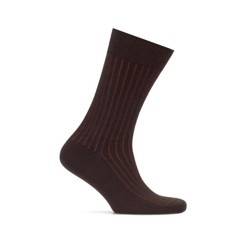 Bresciani Light Brown Striped Socks