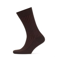 Bresciani - Bresciani Light Brown Striped Socks (1)