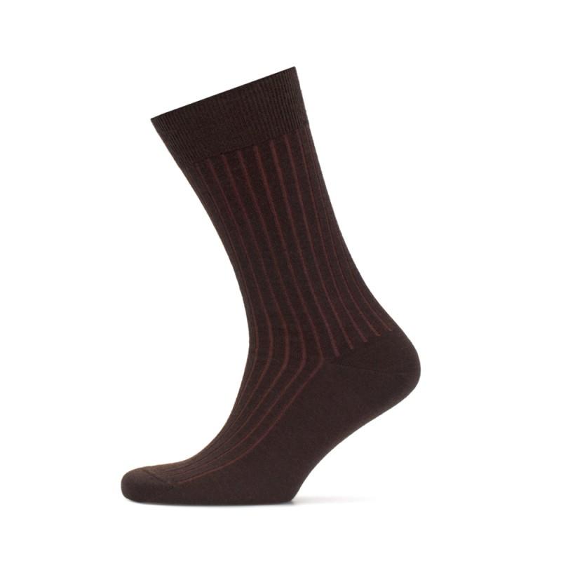 Bresciani - Bresciani Light Brown Striped Socks (1)