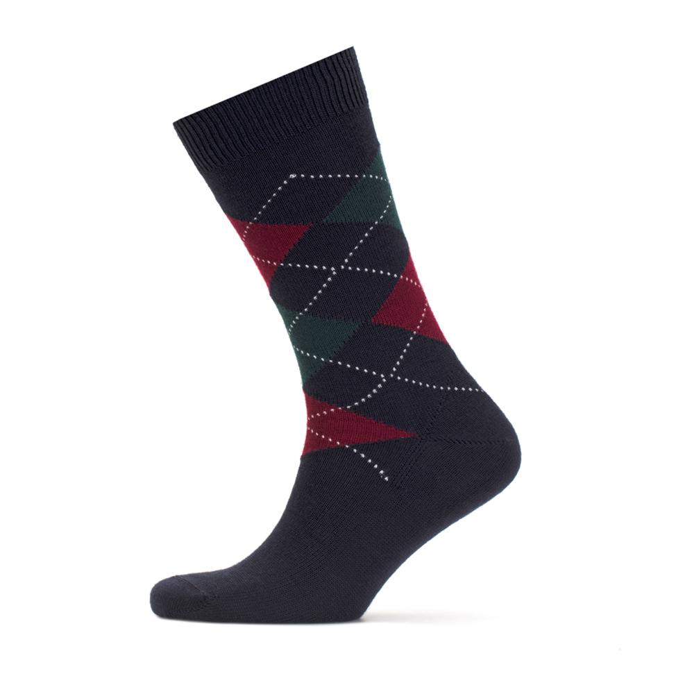 Bresciani Patterned Navy Blue Socks