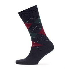 Bresciani - Bresciani Patterned Navy Blue Socks (1)
