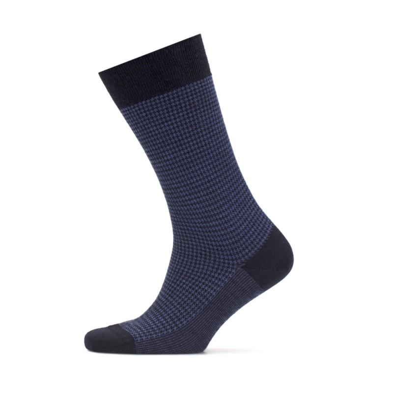 Bresciani - Bresciani Pied De Poul Lacivert Mavi Çorap (1)