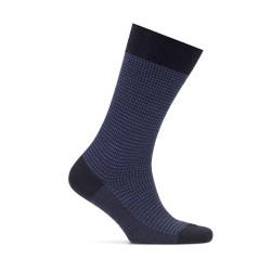 Bresciani - Bresciani Pied De Poul Navy Blue Socks