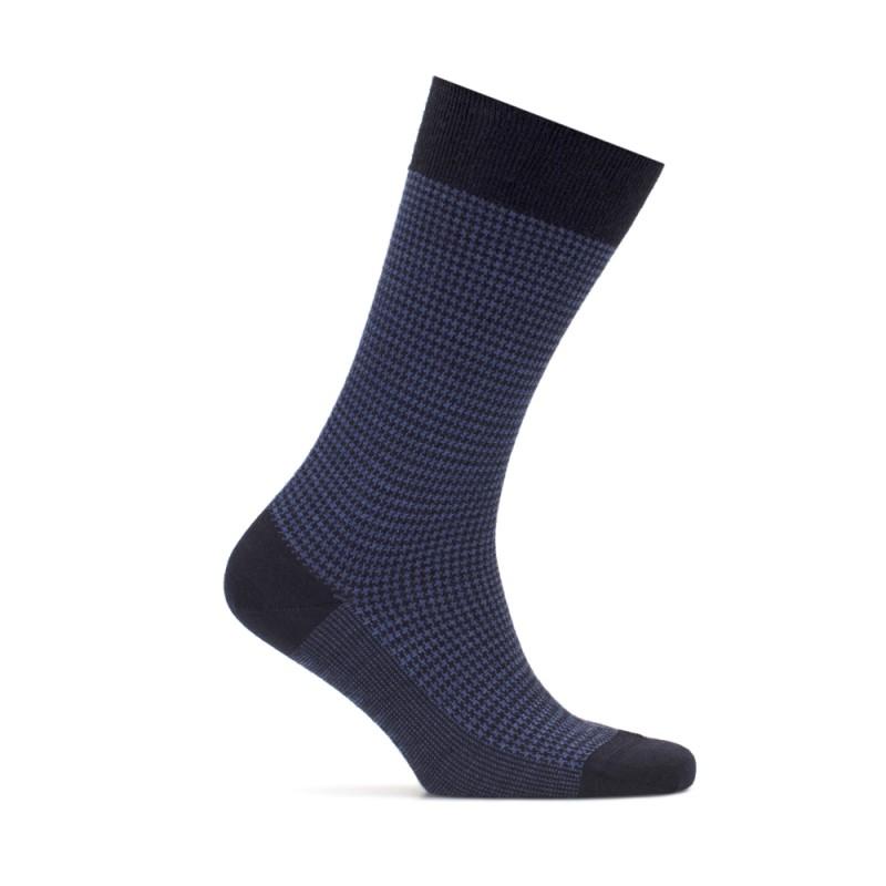 Bresciani Pied De Poul Navy Blue Socks