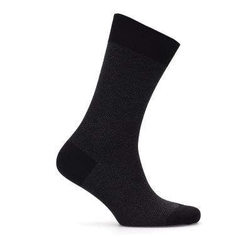 Bresciani Siyah Anthracite Herringbone Socks