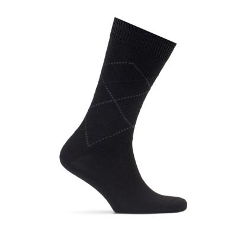 Bresciani - Bresciani Siyah Gri Baklava Çorap