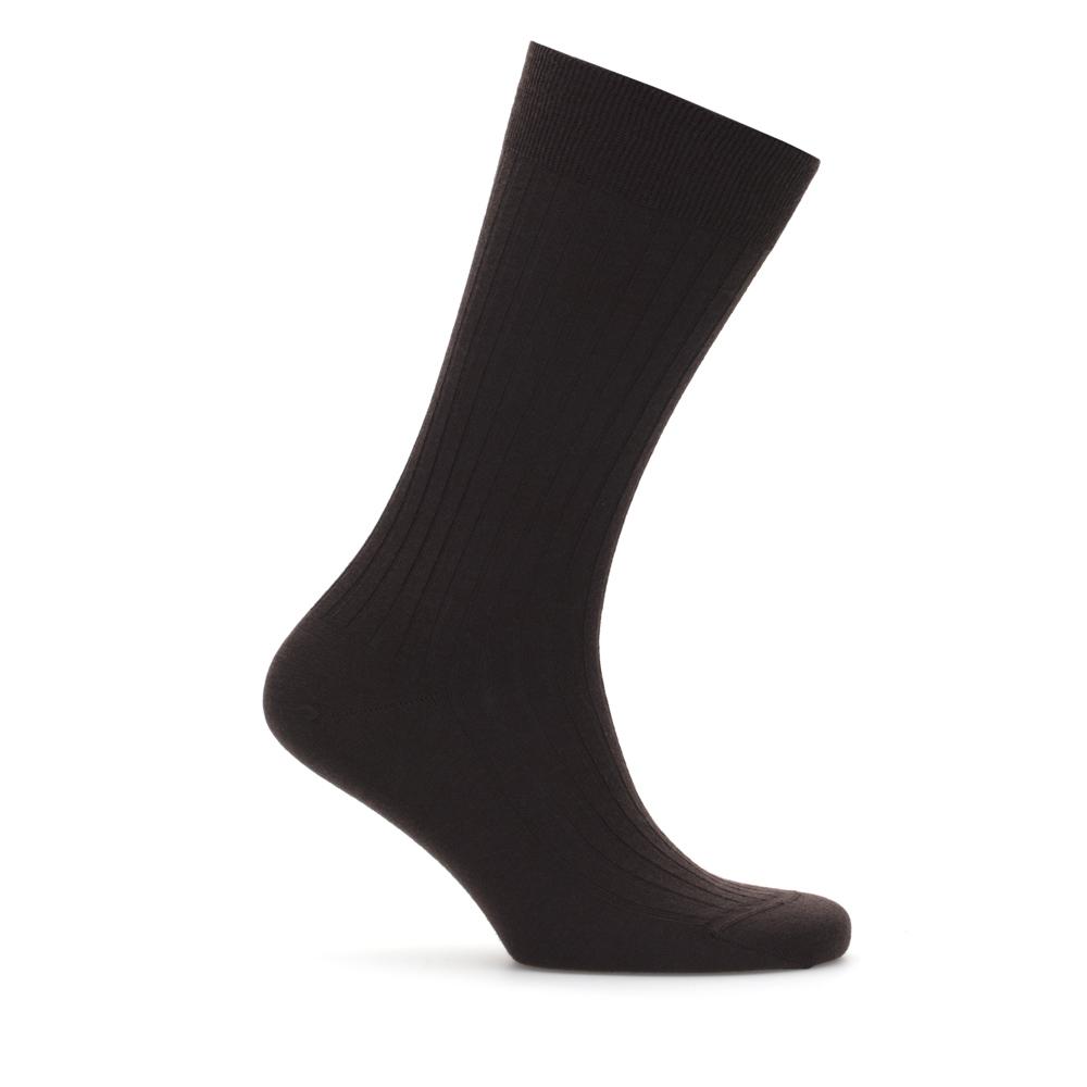 Bresciani Brown Stripe Wool Socks