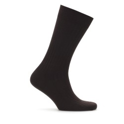 Bresciani - Bresciani Brown Stripe Wool Socks