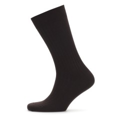 Bresciani - Bresciani Brown Stripe Wool Socks (1)