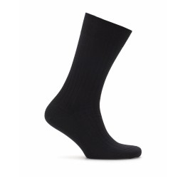 Bresciani - Bresciani Black Stripe Wool Socks