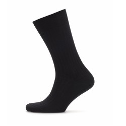 Bresciani - Bresciani Black Stripe Wool Socks (1)