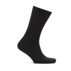 Bresciani Black Stripe Wool Socks - Thumbnail