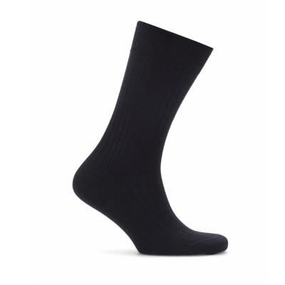 Bresciani Navy Stripe Wool Socks