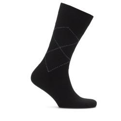 Bresciani - Bresciani Brown Argyle Wool Socks