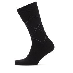 Bresciani Brown Argyle Wool Socks - Thumbnail