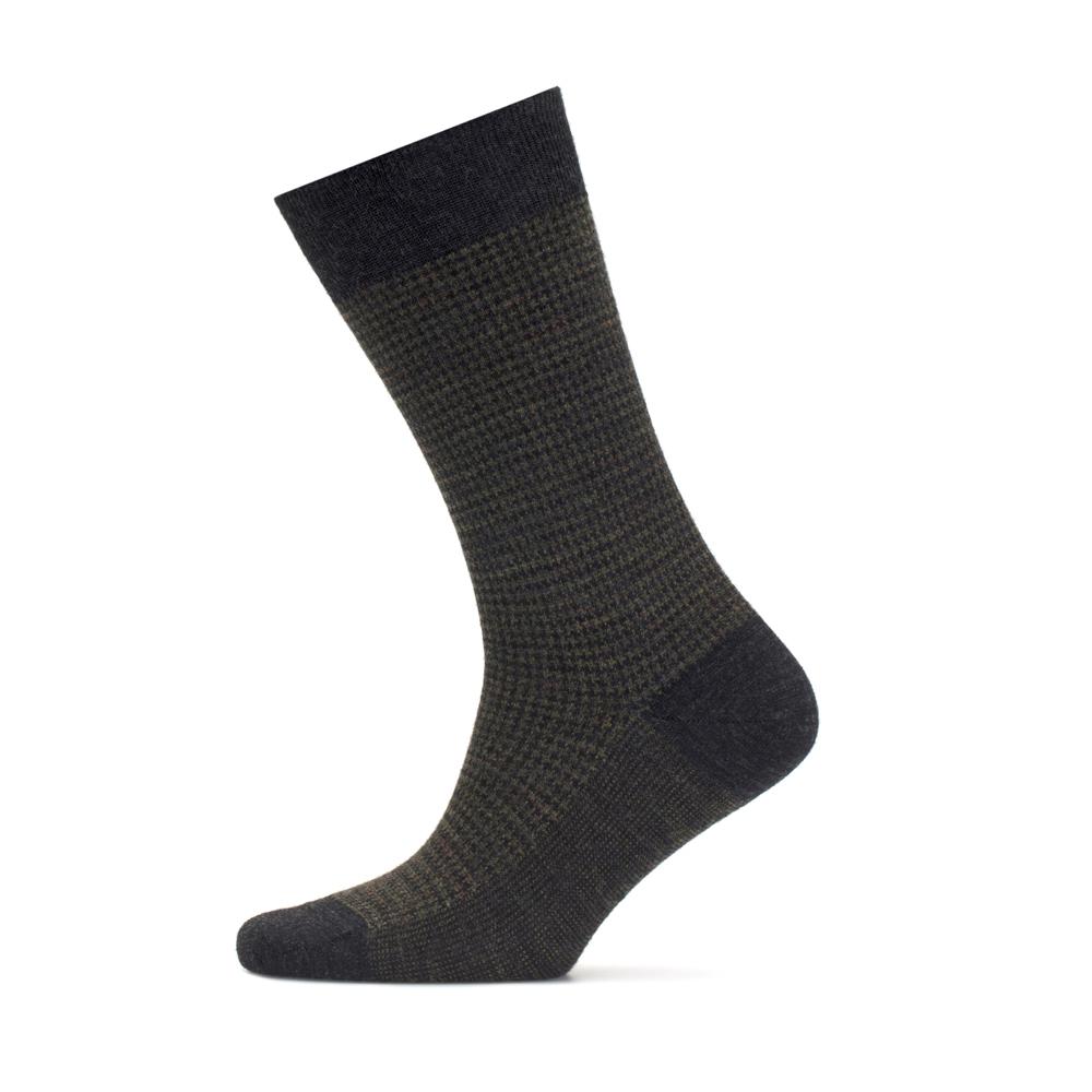 Bresciani Sottobosco Pied De Poul Antracite Nefti Socks