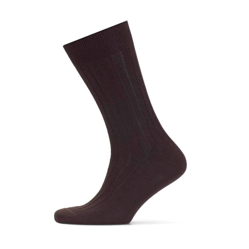 Bresciani Striped Brown Socks