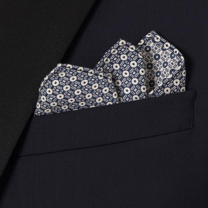 Carl Gross - Carl Gross %100 Yün Lacivert Peak Lapel Yaka Saten Garnili Slim Fit Smokin Takım Elbise (1)