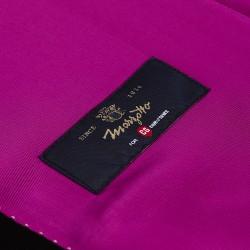 Carl Gross %100 Yün Lacivert Peak Lapel Yaka Saten Garnili Slim Fit Smokin Takım Elbise - Thumbnail