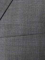 Carl Gross Açık Gri Kareli Takım Elbise - Thumbnail