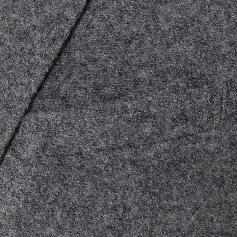Carl Gross Açık Gri Melanj Astarsız Slim Fit Yün-Akrilik Ceket