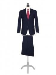 Carl Gross A.Lacivert Flanel Yün Takım Elbise - Thumbnail
