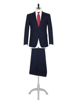 Carl Gross A.Lacivert Flanel Yün Takım Elbise