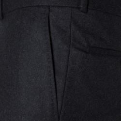 Carl Gross Antrasit Flanel Yün Vitale Barberis Pantolon - Thumbnail