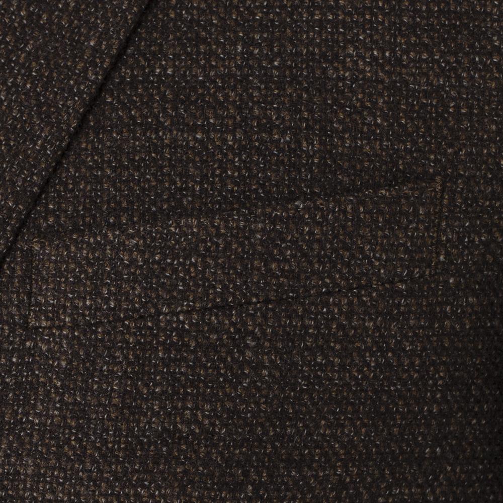 Carl Gross Kahverengi Tweed Yün Ceket