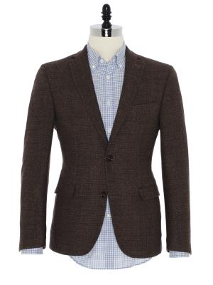 Carl Gross - Carl Gross Kahverengi Tweed Yün Ceket