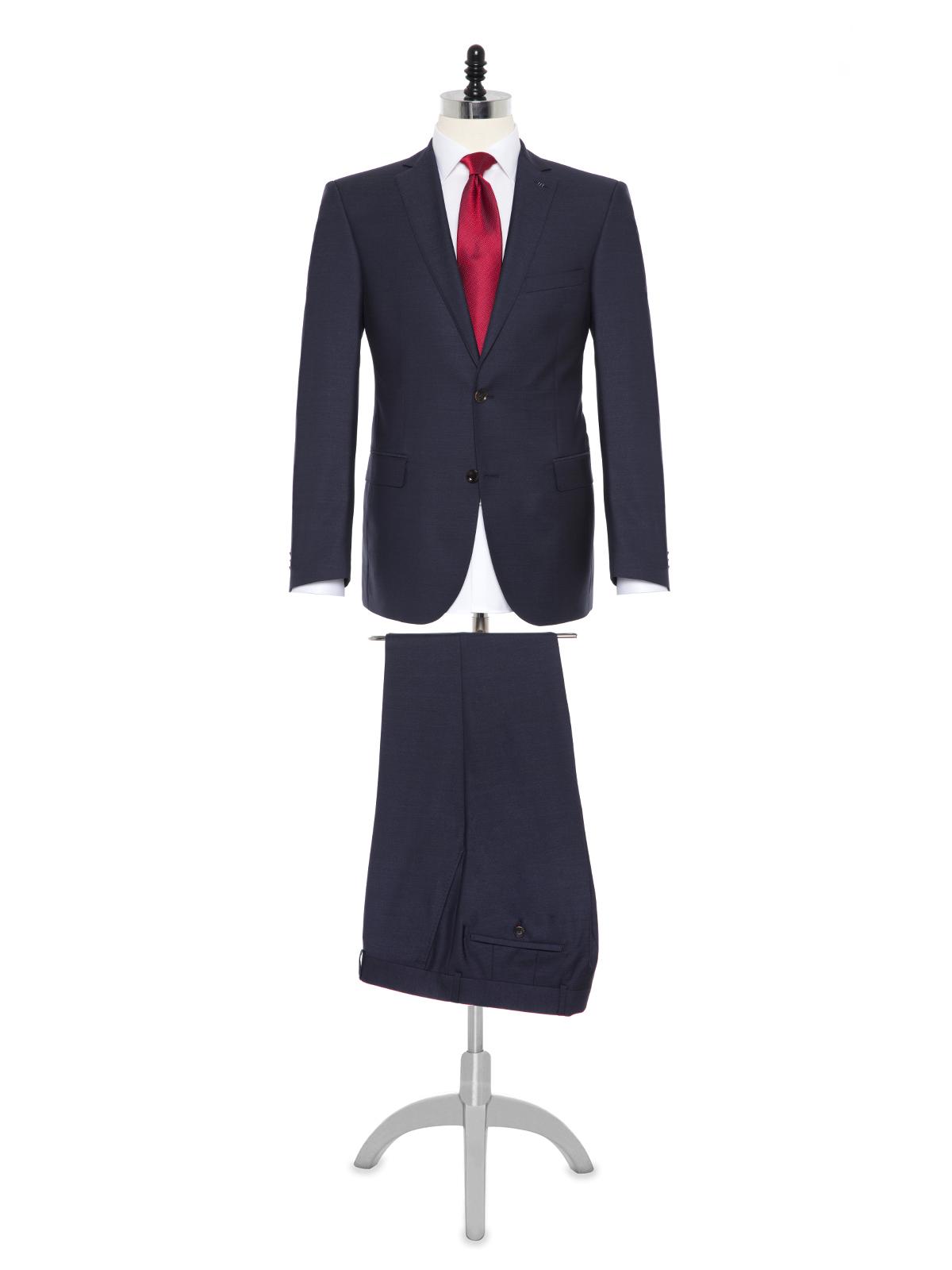Carl Gross - Carl Gross Cerruti Silk light Lacivert Yün İpek Takım Elbise