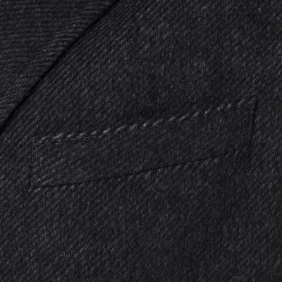 Carl Gross - Carl Gross Diagonal Gri Yün - Kaşmir İçlikli Palto (1)