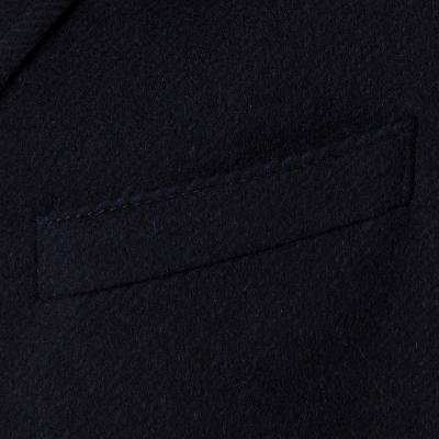 Carl Gross - Carl Gross Diagonal Lacivert Yün Kaşmir İçlikli Palto (1)