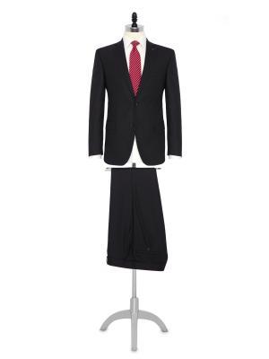 Carl Gross Füme Kuş Gözü Yün Takım Elbise