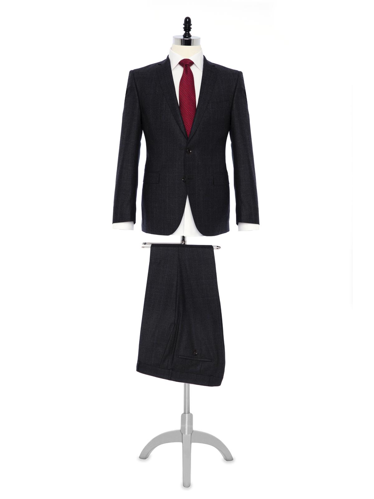 Carl Gross Füme Prince de Galle Yün Takım Elbise Takım Elbise
