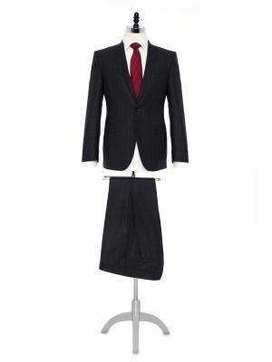 Carl Gross - Carl Gross Füme Prince de Galle Yün Takım Elbise Takım Elbise