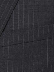 Carl Gross Gri Çizgili Süperfine Australian Wool Takım Elbise - Thumbnail