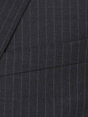 Carl Gross - Carl Gross Gri Çizgili Süperfine Australian Wool Takım Elbise (1)