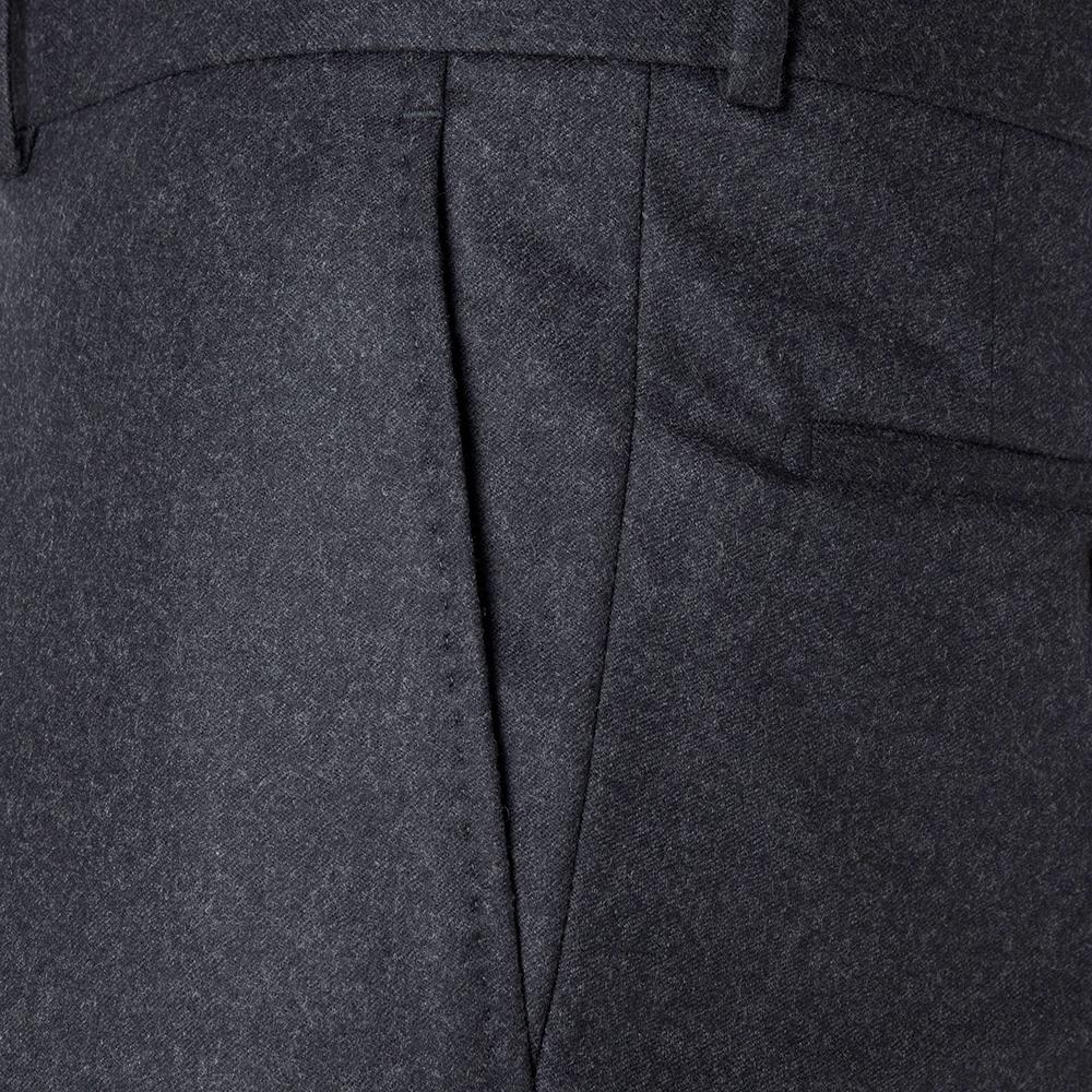 Carl Gross Gri Flanel Yün Vitale Barberis Pantolon