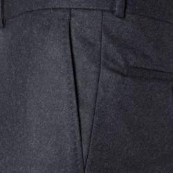 Carl Gross Gri Flanel Yün Vitale Barberis Pantolon - Thumbnail