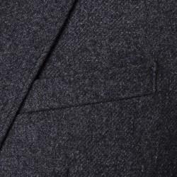 Carl Gross - Carl Gross Gri Melanj Astarsız Slim Fit Yün-Polyester Ceket (1)