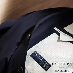 Carl Gross Guabello Impatto Zero Lacivert Yün Pardösü - Thumbnail