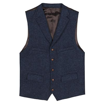 Carl Gross - Carl Gross Harris Tweed Laci Yün Yelek