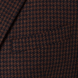 Carl Gross - Carl Gross Kahve-Siyah Pied De pule Yün-İpek Loro Piana Dream Tweed Ceket (1)