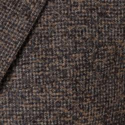 Carl Gross Kahverengi-Bej Diagonal Melanj Yün Alpaca Polyamide Loro Piana Ceket - Thumbnail