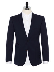 Carl Gross - Carl Gross Lacivert Blazer Yün Cerruti Travel Ceket
