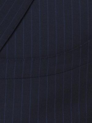 Carl Gross - Carl Gross Lacivert Çizgili Süperfine Australian Wool Takım Elbise (1)