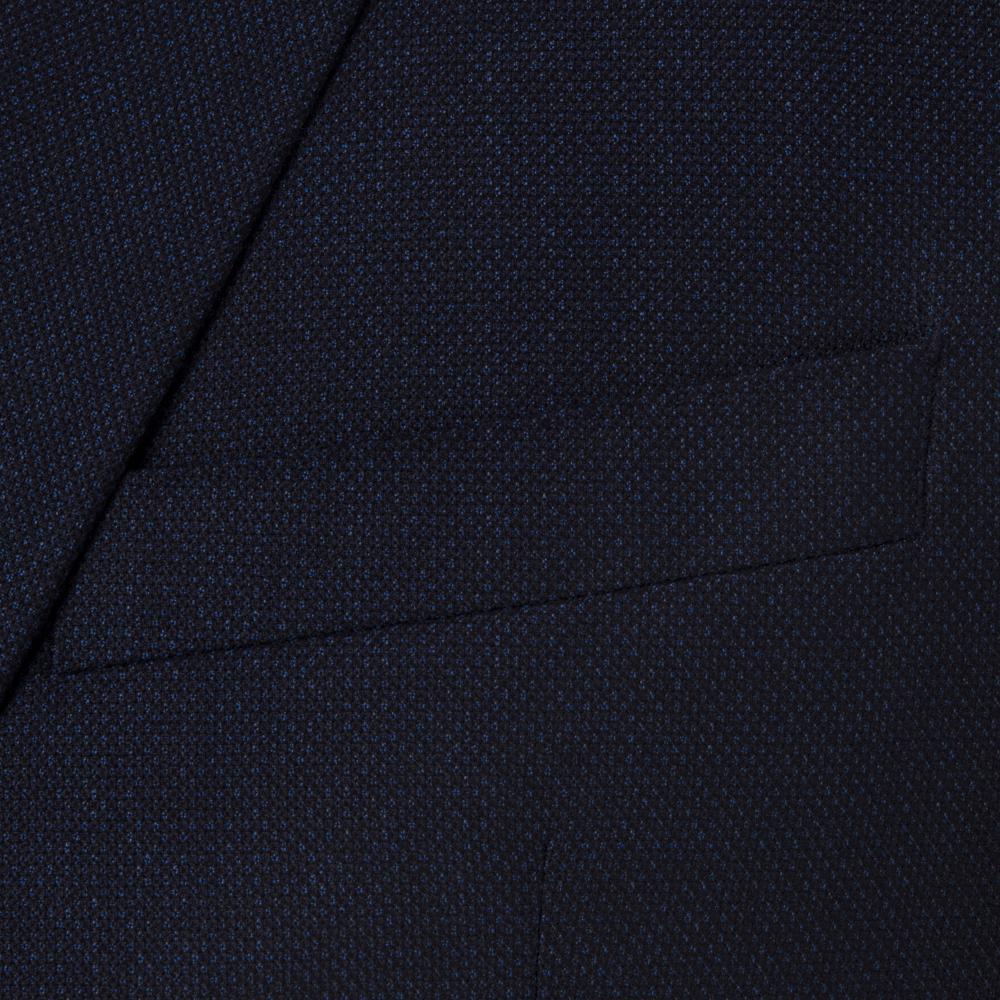 Carl Gross Lacivert Kuşgözü Yün Takım Elbise