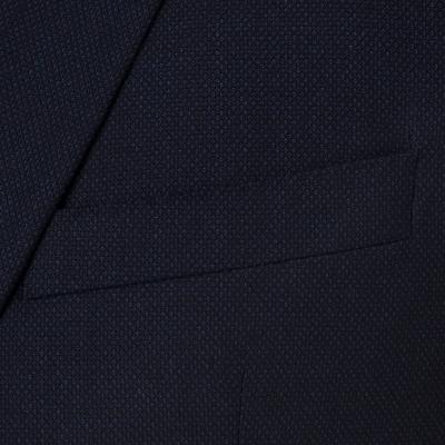 Carl Gross - Carl Gross Lacivert Kuşgözü Yün Takım Elbise (1)