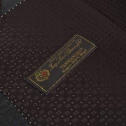 Carl Gross Loro Piana Tasmanian Süper 150'S Gri Kareli Yün Takım Elbise - Thumbnail